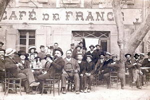 1900  café de france Place de la République