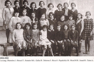 1932/1933  école des filles  (therese  heraud)