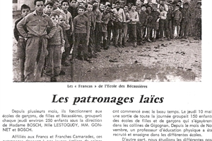 1961 patronages laïcs